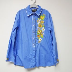 Bob Mackie Wearable Art embroidered shirt